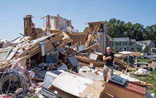 组图:艾达风暴酿洪灾 冲击美国东北部