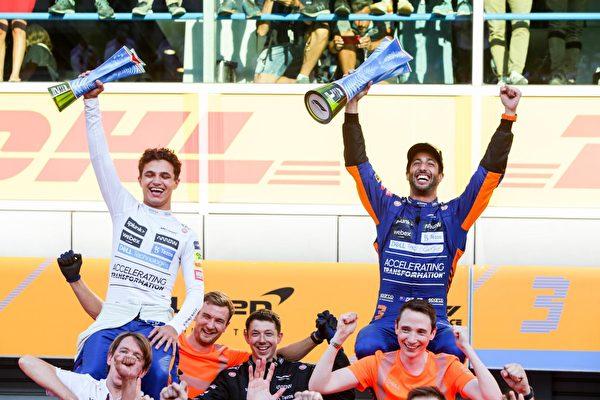 迈凯伦包揽冠亚军 维斯塔潘与小汉互撞退赛