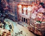 組圖:奇觀 雕刻在紅砂岩峭壁上的約旦古城