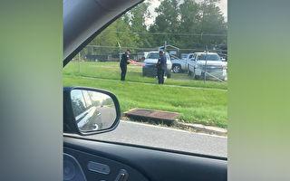 艾达过后 路州警察从铁丝网上救下一面国旗