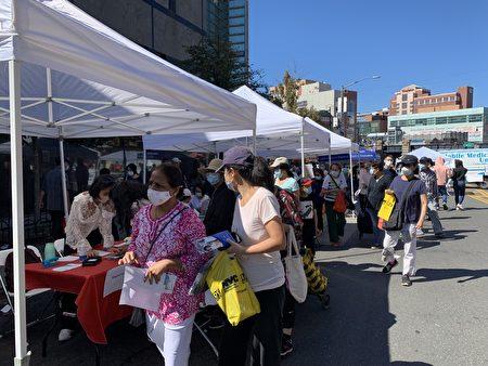 組圖:新唐人戶外健康展  紐約法拉盛熱鬧登場