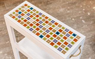 用马赛克磁砖铺贴家具 相当讨人喜欢