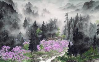 台灣山岳之美  水墨畫家張伸熙