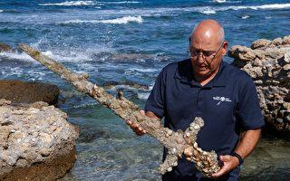 组图:以色列潜水员发现900年前十字军古剑
