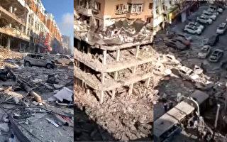 沈阳一饭店爆炸瞬间视频曝光 半条街成废墟