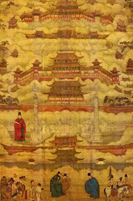 圖為明代畫作《帝都圖》中的紫禁城。(公有領域)