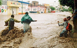 两个飓风袭击 墨西哥灾情处处