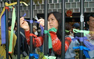 组图:香港市民2004年元旦民主大游行(四)
