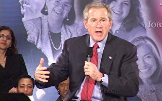 布什会见妇女小企业主 就经济问题对话