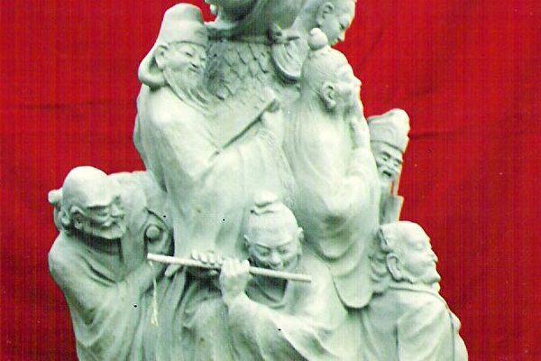 """王德谦先生的雕塑:""""八仙"""""""