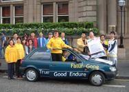 2004年講真相汽車之旅 蘇格蘭議會議員主持啟程活動