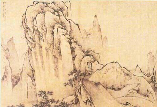 王履 華山圖(公有領域)