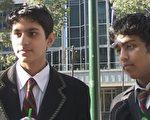 墨爾本市兩名中學生。