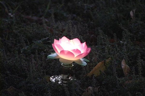 蓮花燈(大紀元攝影)