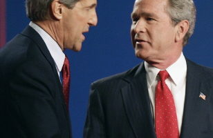 布什凯瑞最后一次电视辩论刚刚结束