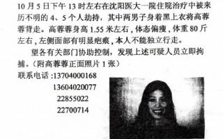 下令抓捕高蓉蓉 瀋陽司法局自曝毀容惡行