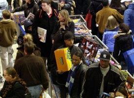 组图:感恩节后美国人的购物潮