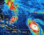 美國全國颶風中心(National Hurricane Center)電腦螢幕跟蹤的颶風伊莎貝爾(Isabel) (Getty Images 2003-9-12)