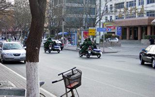 持枪军警巡逻 北京街头更增恐怖气氛