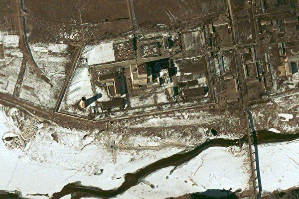2003年2月7日的卫星图片﹐朝鲜宁边核设施。(AFP/DigitalGlobe)