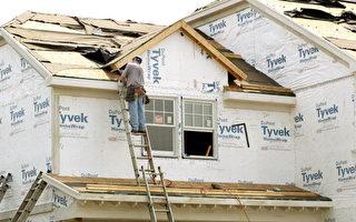 木匠建设一个新房子 (Getty Images 2004-6-14)