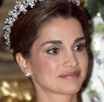 約旦王后拉妮亞(1999年10月20日.攝於西班牙,AFP/Getty Images)