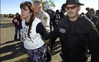 美警方布什總統農場四周逮捕抗議民眾