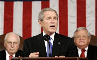 布什国情咨文 强调不撤退不向邪恶投降