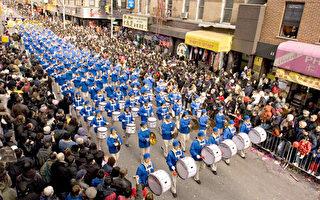 组图:天国乐团纽约华埠再展雄姿