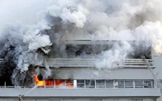"""莫斯科报业大楼火灾 """"共青团真理报""""出版社被烧"""