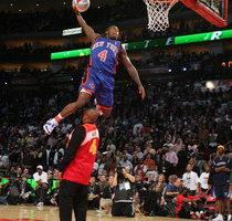 组图:NBA灌篮赛罗宾森夺魁 小皮蓬以一分惜败