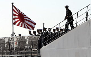 日本海上自衛隊教練船(AFP/Getty 圖像2005 年7月12 日)