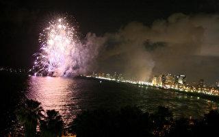 特拉維夫邊地中海煙火秀吸引人潮