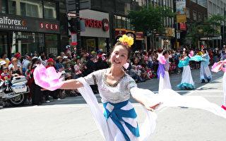 组图:加拿大国庆 法轮功学员蒙城行