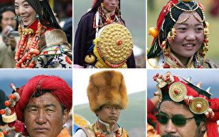 组图:各具特色的西藏民族服饰