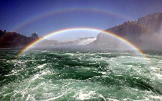 圖文:尼亞加拉大瀑布出現雙虹奇觀
