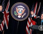美國總統布什(右)與英國首相布萊爾(左),12月7日在白宮討論伊拉克問題報告。(Photo by Alex Wong/Getty Images)