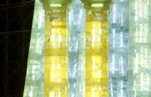 組圖:哈爾濱冰雕浪漫迷人
