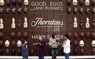 組圖:世界首個可食用巧克力看板面世