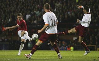 歐洲冠軍杯:曼聯7比1狂勝羅馬創紀錄