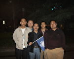 中國泛藍聯盟華中地區部份成員,左起:李天翔 孫不二 張子霖 朱成明 蔡愛民 (中國泛藍聯盟提供)