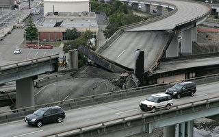 美加州油罐车大火烧塌旧金山公路
