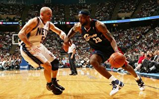 NBA季后赛 骑士87比85险胜网队