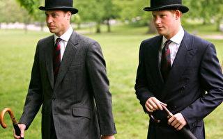 二十二歲的哈利(右)與二十四歲的哥哥威廉王子(左)目前都是英軍軍官。(Chris Jackson/Getty Images)
