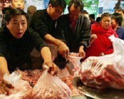 中国猪肉价格飙涨 民众怨声不断