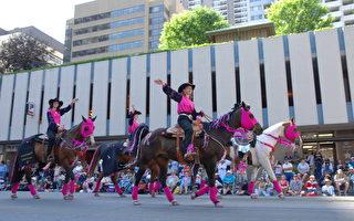 組圖:加拿大卡爾加里牛仔節大遊行