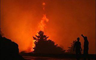 强风袭击希腊  海上交通受阻 火灾频传