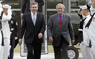 英国首相布朗抵美国 会晤总统布什