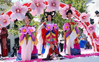 组图:韩国日庆祝活动旧金山热闹登场