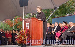 哈佛首位女校長宣誓就職